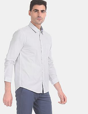 Ruggers Men White Allover Print Cotton Casual Shirt