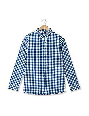 U.S. Polo Assn. Women Long Sleeve Gingham Shirt