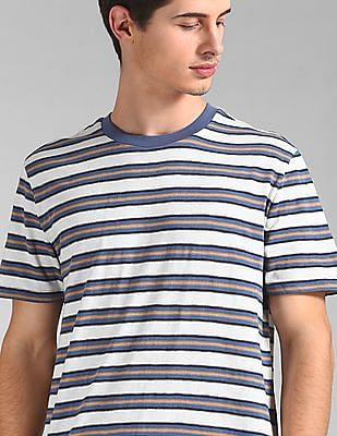 GAP Short Sleeve Slub Stripe T-Shirt