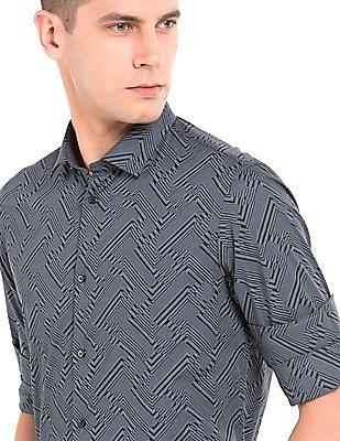 Arrow Newyork Geometric Print Slim Fit Shirt