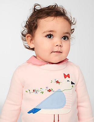 GAP Baby Pink Scalloped Collar Top