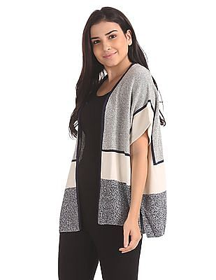 Elle Relaxed Fit Intersia Shrug
