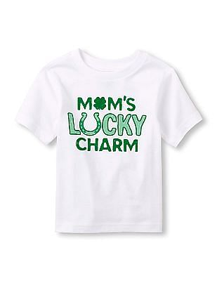 The Children's Place Toddler Boy 'Mom's Lucky Charm' Graphic Tee