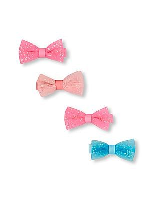 The Children's Place Girls Embellished Bow Hair Clip 4-Pack
