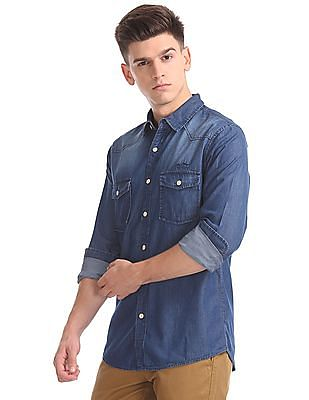Cherokee Regular Fit Solid Shirt