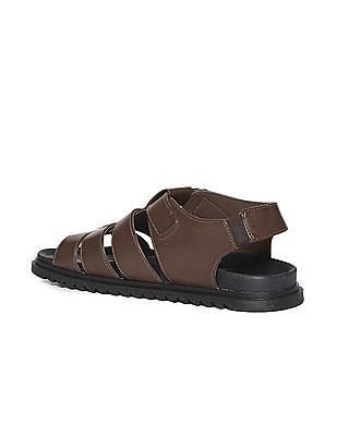 U.S. Polo Assn. Contrast Sole Adjustable Strap Sandals