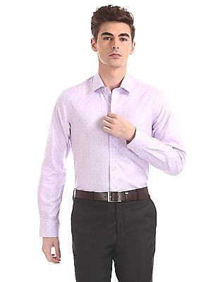 Arrow Regular Fit Patterned Weave Shirt