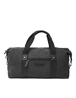 U.S. Polo Assn. Pleather Trim Canvas Duffel Bag
