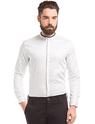 True Blue Concealed Placket Slim Fit Shirt