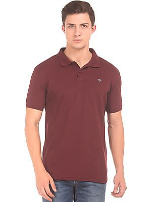 Ruggers Patterned Knit Regular Fit Polo Shirt