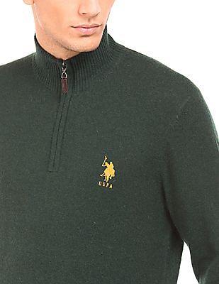 U.S. Polo Assn. High Neck Lambswool Sweater