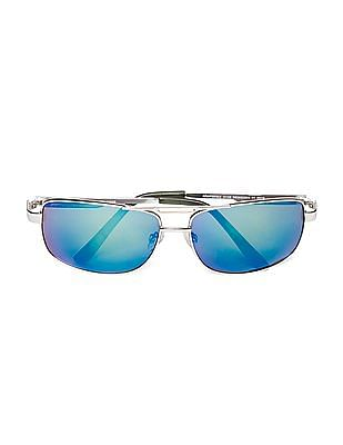 Aeropostale Square Frame Mirrored Sunglasses