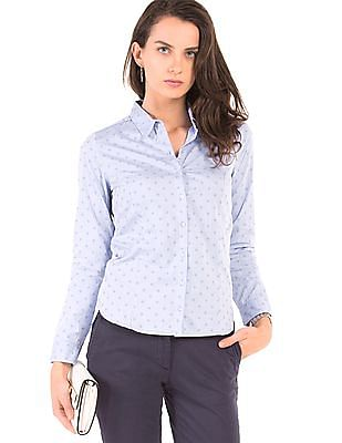 Arrow Woman Striped Regular Fit Shirt