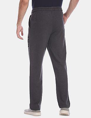 GAP Grey Drawstring Waist Heathered Track Pants
