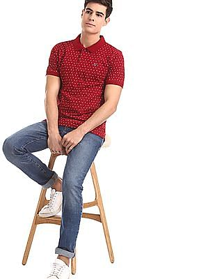Ruggers Red Floral Print Polo Shirt