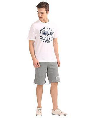 Aeropostale Heathered Regular Fit Shorts