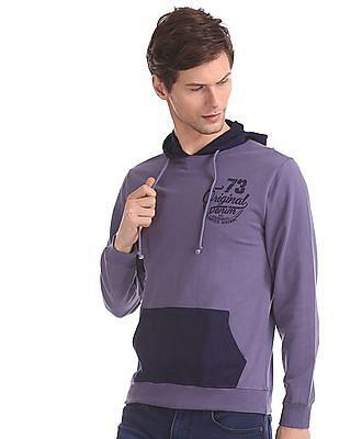 Cherokee Purple Solid Hooded Sweatshirt