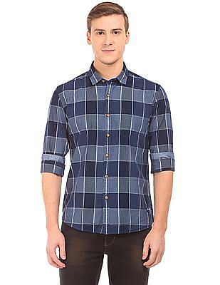 Flying Machine Dyed Check Shirt