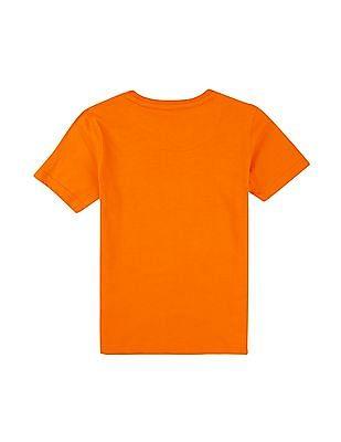 FM Boys Boys Printed Front Round Neck T-Shirt