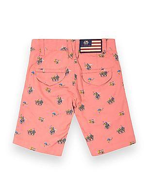 U.S. Polo Assn. Kids Boys Polo Print Regular Fit Shorts