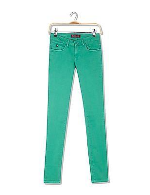 U.S. Polo Assn. Women Super Skinny Fit Clean Wash Jeans