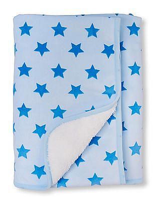 The Children's Place Baby Boys Layette Star Print Cosy Blanket