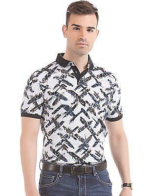 Arrow Newyork Printed Regular Fit Polo Shirt