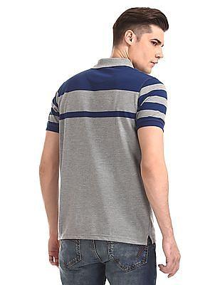 Ruggers Grey Short Sleeve Striped T-Shirt
