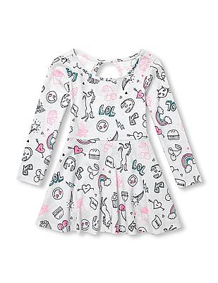 The Children's Place Baby Long Sleeve Printed Dress