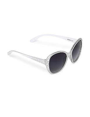 The Children's Place White Girls Embellished Sunglasses