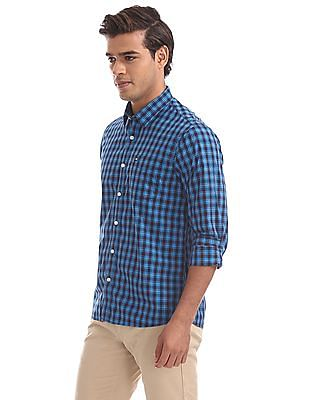 Arrow Sports Slim Fit Checked Shirt