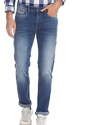 Aeropostale Blue Skinny Fit Washed Jeans