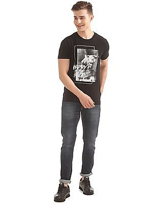 Flying Machine Whiskered Skinny Fit Jeans