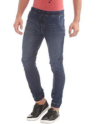 Ed Hardy Drawstring Waist Washed Jeans