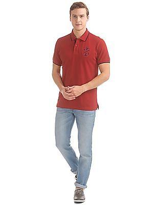 Izod Slim Fit Tipped Polo Shirt
