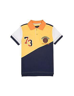Cherokee Boys Colour Block Pique Polo Shirt