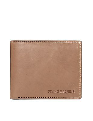 Flying Machine Brown Bi-Fold Leather Wallet