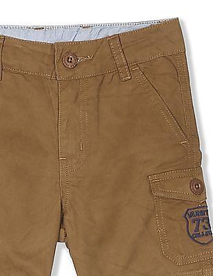 Cherokee Brown Boys Woven Cargo Shorts