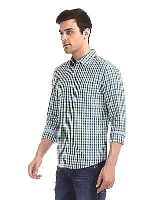 Flying Machine Rounded Cuff Check Shirt
