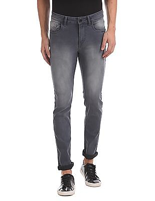 Flying Machine Michael Slim Tapered Fit Crinkled Jeans