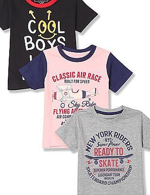 Cherokee Boys Crew Neck Graphic T-Shirt - Pack Of 3
