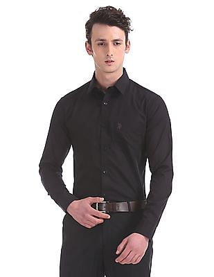 USPA Tailored Tailored Fit Spread Collar Shirt