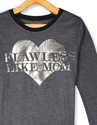 The Children's Place Grey Girls Long Sleeve Graphic T-Shirt