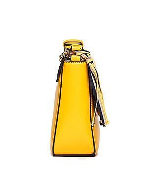 U.S. Polo Assn. Women Braided Linked Chain Hand Bag