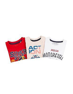 Cherokee Boys Short Sleeve T-Shirt - Pack Of 3