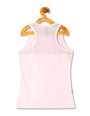 U.S. Polo Assn. Kids Girls Standard Fit Lace Tank Top