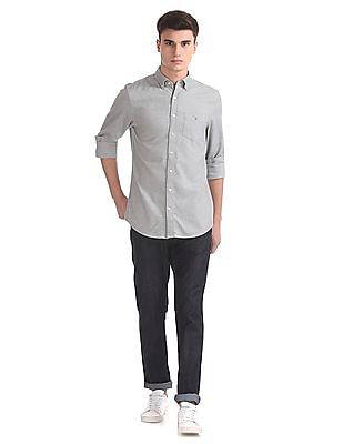 Gant Brushed Oxford Solid Regular Button Down Shirt