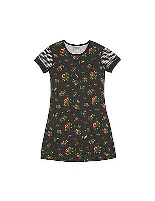 Cherokee Girls Lace Sleeve T-Shirt Dress