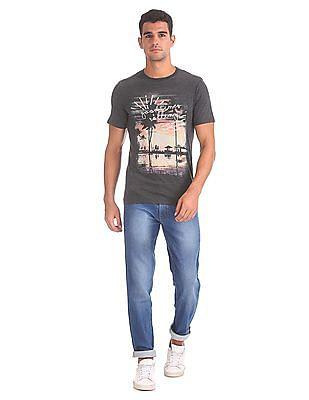 Cherokee Regular Fit Heathered T-Shirt