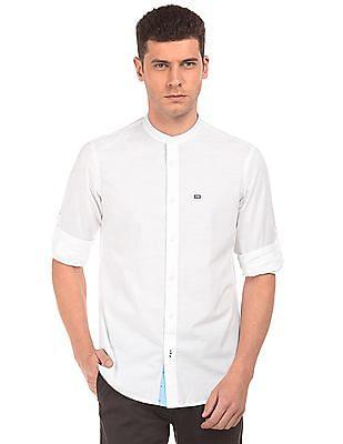 Arrow Sports Mandarin Collar Slim Fit Shirt